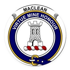 MacLean Clan Badge Round Car Magnet
