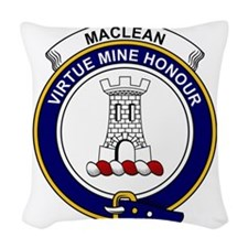MacLean Clan Badge Woven Throw Pillow