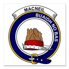 "MacNeil (of Barra) Clan  Square Car Magnet 3"" x 3"""