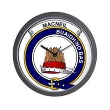 MacNeil (of Barra) Clan Badge Wall Clock