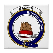 MacNeil (of Barra) Clan Badge Tile Coaster
