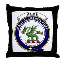 Maule Clan Badge Throw Pillow