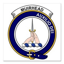 "Muirhead Clan Badge Square Car Magnet 3"" x 3"""