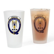 Preston Clan Badge Drinking Glass