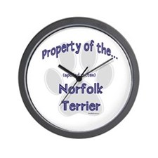 Norfolk Terrier Property Wall Clock