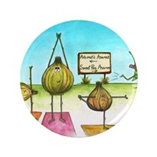 "Sweet Pea and Garlic Yoga 3.5"" Button"