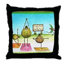 Sweet Pea and Garlic Yoga Throw Pillow