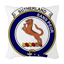 Sutherland I (Earl of) Clan Ba Woven Throw Pillow