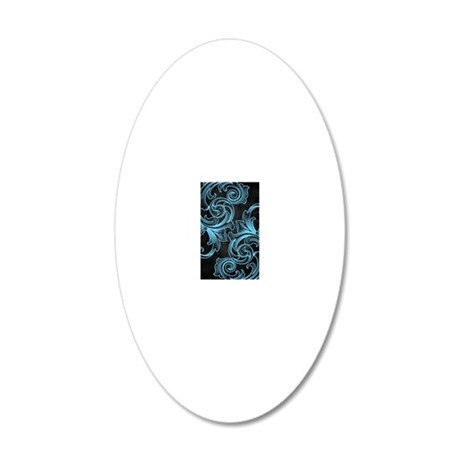 victoriansliderblue 20x12 Oval Wall Decal