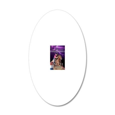 Barrel Racing iphone case 2 20x12 Oval Wall Decal