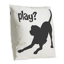 play Burlap Throw Pillow
