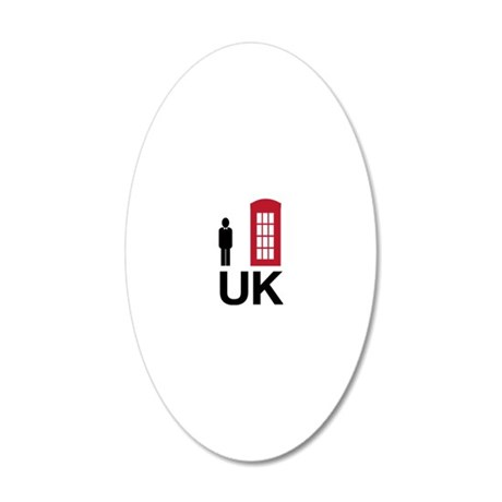 UK 20x12 Oval Wall Decal