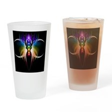 Chakra Goddess - square Drinking Glass
