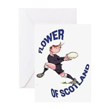 Scottish Rugby - Back Greeting Card