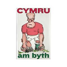 Welsh Rugby - Forward 2 Rectangle Magnet