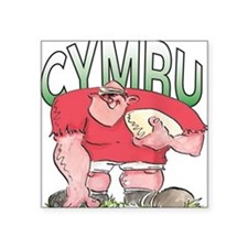 "Welsh Rugby - Forward 1 Square Sticker 3"" x 3"""