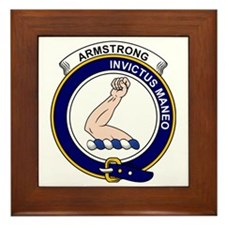 Armstrong Clan Badge Framed Tile