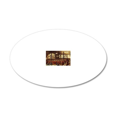 British Post Office 1809 20x12 Oval Wall Decal