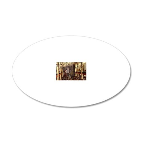 St-Martins-in-the-Fields 20x12 Oval Wall Decal