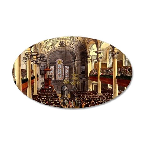 St-Martins-in-the-Fields 35x21 Oval Wall Decal