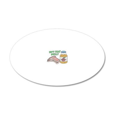 Pork chops apple sauce2 copy 20x12 Oval Wall Decal