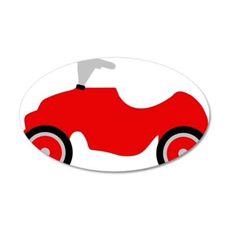 play_car 35x21 Oval Wall Decal
