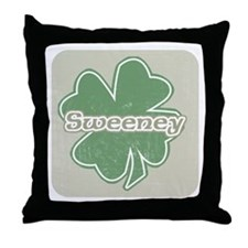 """Shamrock - Sweeney"" Throw Pillow"