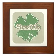 """Shamrock - Smith"" Framed Tile"