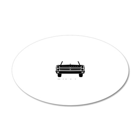 65 Front Black 20x12 Oval Wall Decal