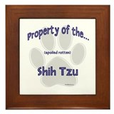 Shih Tzu Property Framed Tile