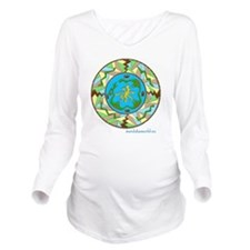 iPhone Inuit Mandala Long Sleeve Maternity T-Shirt
