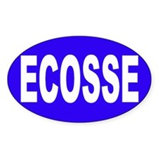 ECOSSE - SCOTLAND Oval Decal