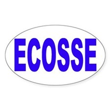 ECOSSE - SCOTLAND Oval Bumper Stickers