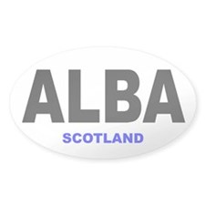 ALBA - SCOTLAND Oval Decal