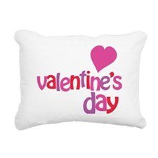 Happy Valentines Day Rectangular Canvas Pillow