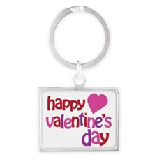 Happy Valentines Day Landscape Keychain