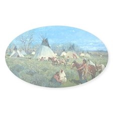 Sioux Hunting Camp, 1891, gouache o Decal