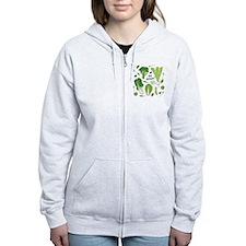 gogreenpattern2 Zip Hoodie