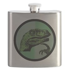 Philosoraptor Circle Flask