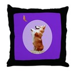 Begging Corgi Throw Pillow
