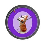 Begging Corgi Wall Clock
