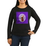 Begging Corgi Women's Long Sleeve Dark T-Shirt