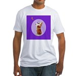 Begging Corgi Fitted T-Shirt