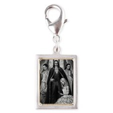 dracula and his ladies Silver Portrait Charm