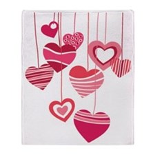 PINK HEARTS Throw Blanket
