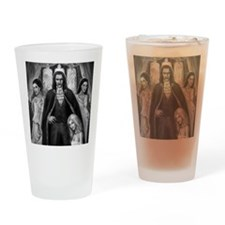 dracula and ladies for mousemat Drinking Glass