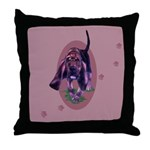 Bloodhound Puppy Throw Pillow