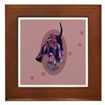 Bloodhound Puppy Framed Tile