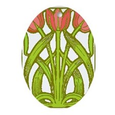 Art Nouveau Tulips -- Oval Ornament