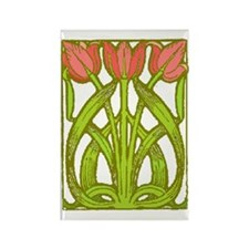Art Nouveau Tulips -- Rectangle Magnet